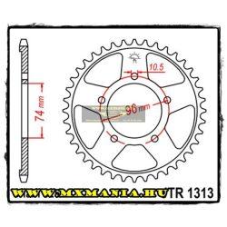 JT Sprockets hátsó lánckerék, 1313, Honda Road CBR400