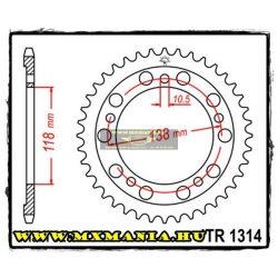 JT Sprockets hátsó lánckerék, 1314, Honda Road CBR400