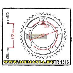 JT Sprockets hátsó lánckerék, 1316, Honda Road CB/CBR500