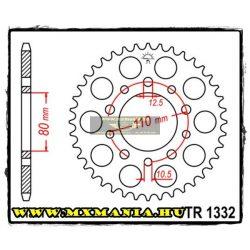 JT Sprockets hátsó lánckerék, 1332, Honda Road, Triumph Road motorokhoz