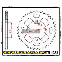JT Sprockets hátsó lánckerék, 1351, Honda ATV ATC350 X