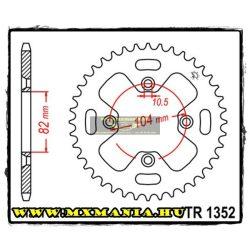 JT Sprockets hátsó lánckerék, 1352, Honda ATV ATC350 X