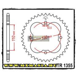 JT Sprockets hátsó lánckerék, 1355, Honda ATV TRX