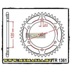JT Sprockets hátsó lánckerék, 1361, Honda Road XLR250