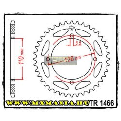 JT Sprockets hátsó lánckerék, 1466, Kawasaki Road KLX125/KX65 Suzuki RM65