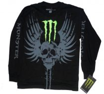Monster Energy Tribal Skull póló, férfi