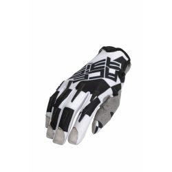 Acerbis  MX-X-P cross kesztyű, fekete-fehér
