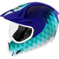 ICON  Variant Pro™ Hello Sunshine  bukósisak, kék-ciánkék-fehér
