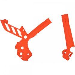 Polisport vázvédő KTM SX+SXF 11/15 + EXC+EXCF 12/16 motorokhoz, narancs színben