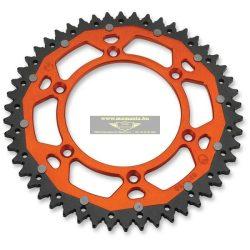 Moose Racing Dual hátsó lánckerék Husaberg motorokhoz narancs, fekete és ezüst színben