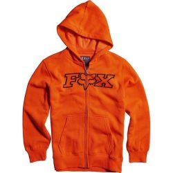 FOX Legacy orange gyerek cipzáros pullóver