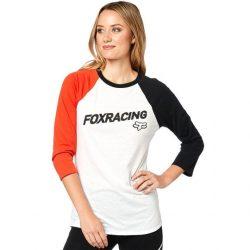 Fox Struck hosszú ujjú póló, fehér
