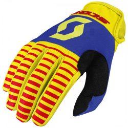 Scott  350 dirt cross kesztyű sárga-piros-kék