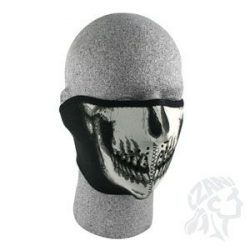 Zan Headgear Skull Face-Glow in the Dark neoprém félmaszk