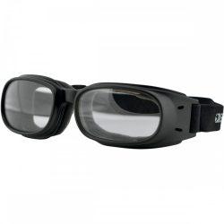 Bobster Piston Adventure Black szemüveg, víztiszta színű lencsével