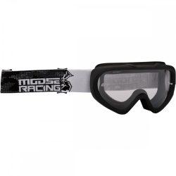 Moose Racing Qualifier motoros szemüveg, fekete