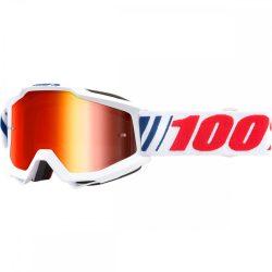 100% Accuri AF066 szemüveg piros tükrös lencsével