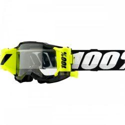 100% Accuri 2 Forecast fekete-fluo sárga gyerek roll-off szemüveg víztiszta lencsével