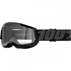 100% Strata 2 fekete gyerek szemüveg víztiszta lencsével
