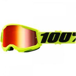 100% Strata 2 fluo sárga gyerek szemüveg tükrös lencsével