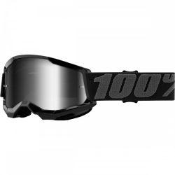 100% Strata 2 fekete gyerek szemüveg tükrös lencsével