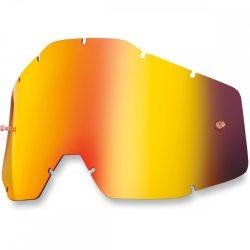 100% Accuri/Strata/Racecraft piros tükrös szemüveg lencse