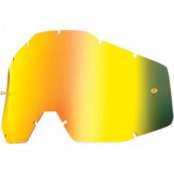 100% Accuri/Strata/Racecraft arany tükrös szemüveg lencse