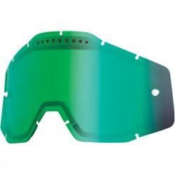 100% VENTED Accuri/Racecraft/Strata Dual zöld tükrős szemüveg lencse