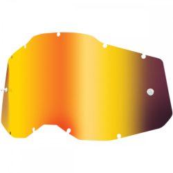 100% Accuri 2/Racecraft 2/Strata 2 piros tükrös szemüveg lencse