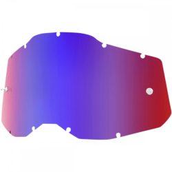 100% Accuri 2/Racecraft 2/Strata 2 kék-piros tükrös szemüveg lencse