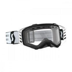 Scott Works Prospect Enduro ACS fehér-fekete cross szemüveg, viztiszta lencsével