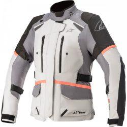 Alpinestars  Stella DRYSTAR Andes Jacket v3 női motoroskabát, SZÜRKE-FEKETE-NARANCS