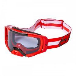 Fox airspace Merz  cross szemüveg  fluo piros-fehér  viztiszta lencsével