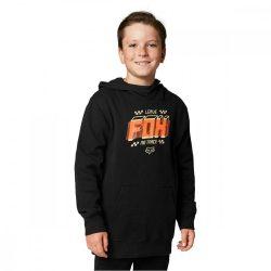 Fox Fullstop hosszú ujjú pulóver, Gyerek, fekete