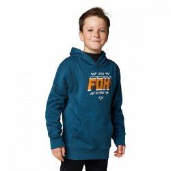 Fox Fullstop hosszú ujjú pulóver, Gyerek, indigókék