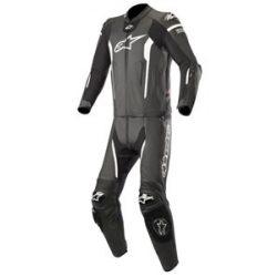 Alpinestars bőrruha 2-TEILER MISSILE TECH-AIR COMPATIBLE fekete-fehér