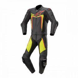 Alpinestars bőrruha 2-TEILER MOTEGI V3 fekete-fluo sárga-piros