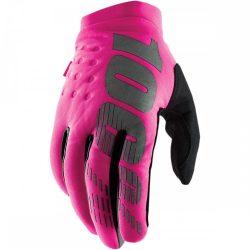 100% Brisker Női Neopren pink-fekete téli kesztyű