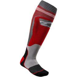 Alpinestars MX plus 1  zokni, piros-szurke színben