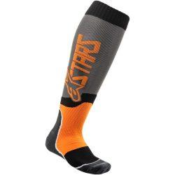 Alpinestars MX plus 2 zokni, szurke-narancs színben