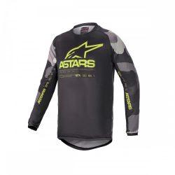 Alpinestars Racer Tactical  crossruha szett, Gyerek, szürke camo/fluo sárga