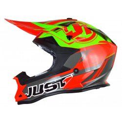 JUST1 J32 Pro Sisak Piros/Lime