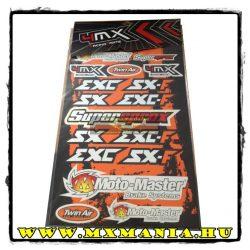 4MX Racing matrica, Exc, Motomaster,TwinAir