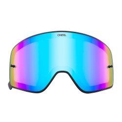 O'neal B50 szemüveg lencse, kék tükrös