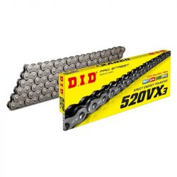 "DID 520 VX3 ""x"" gyűrűs lánc steel"