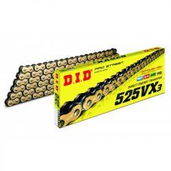 """DID 525VX3 """"X"""" gyűrűs lánc, arany"""