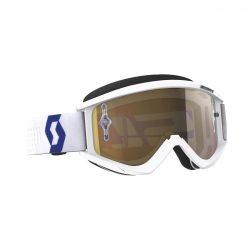 SCOTT Works Recoil Xi fehér cross szemüveg arany tükrős lencsével
