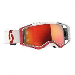 Scott Works Prospect cross szemüveg, fehér-piros tükrős lencsével