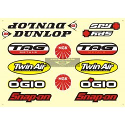 Matrica szett, Dunlop, Tag, Twin air