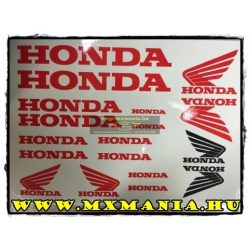 Honda matrica szett, Táblás több szin